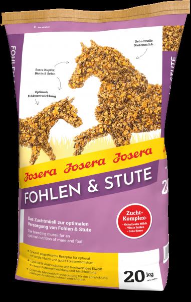 Josera Pferd Fohlen & Stute 20kg - Zuchtmüsli für Stuten und Fohlen