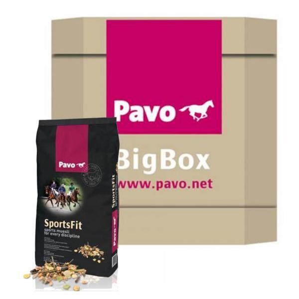 Pavo SportsFit BigBox 450kg - Sportpferdefütterung für Glanz und Ausdauer