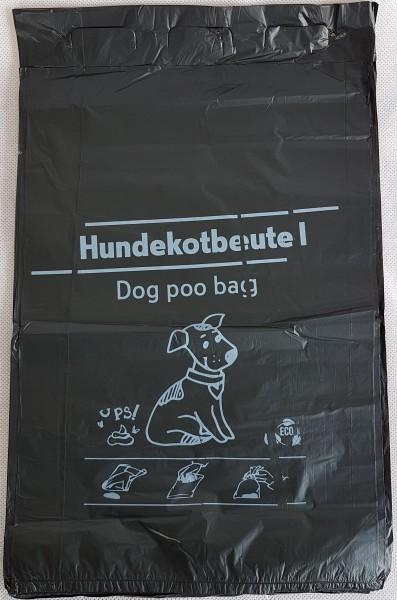 Hundekotbeutel schwarz 100 Stück