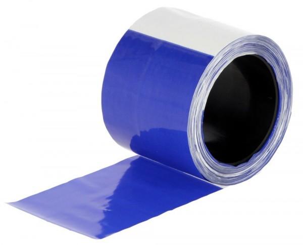 Herdenschutzband blau/weiß 80mm, Länge: 100m