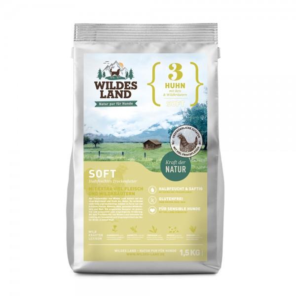 Wildes Land Soft Adult Huhn mit Reis und Wildkräutern