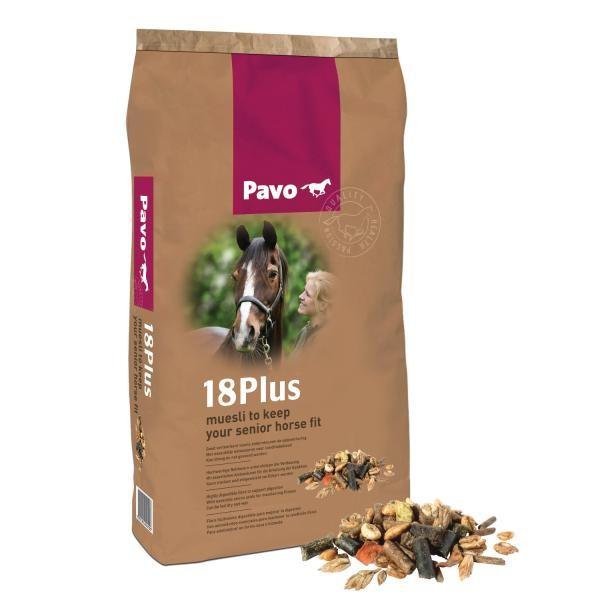 Pavo 18Plus - Staubfreies Ergänzungsfuttermittel für Pferde ab 18 Jahren 15kg
