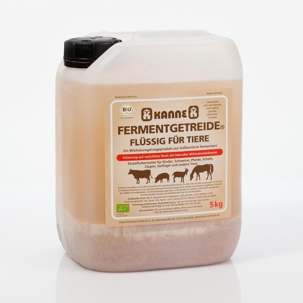 Original Kanne Bio Fermentgetreide flüssig® für Tiere 5l Kanister, DE-ÖKO-005