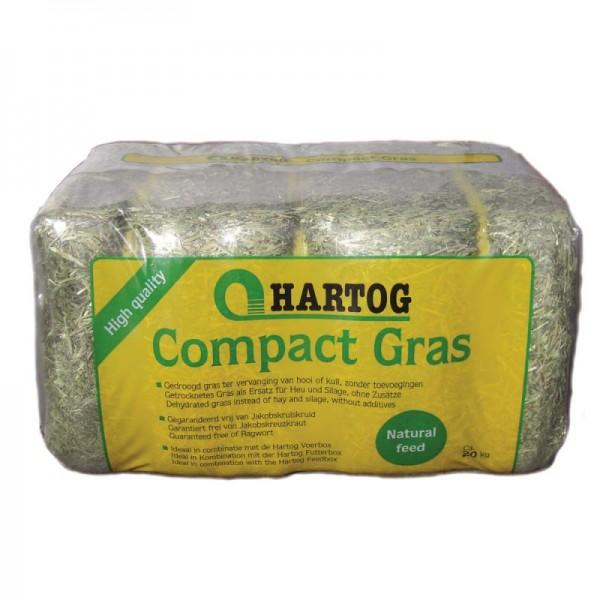 Hartog Compact Gras 18kg - getrocknetes Gras, Ersatz für Raufutter