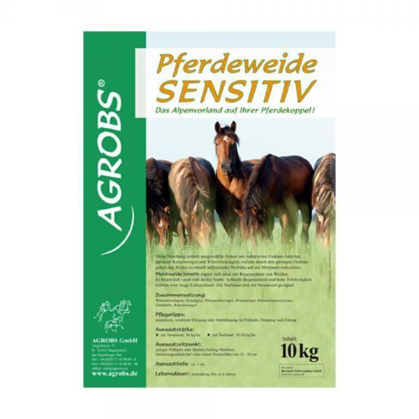 Agrobs Saatgut Pferdeweide sensitiv 10kg - Zur Nachsaat von Pferdeweiden mit fruktanärmeren Gräsern