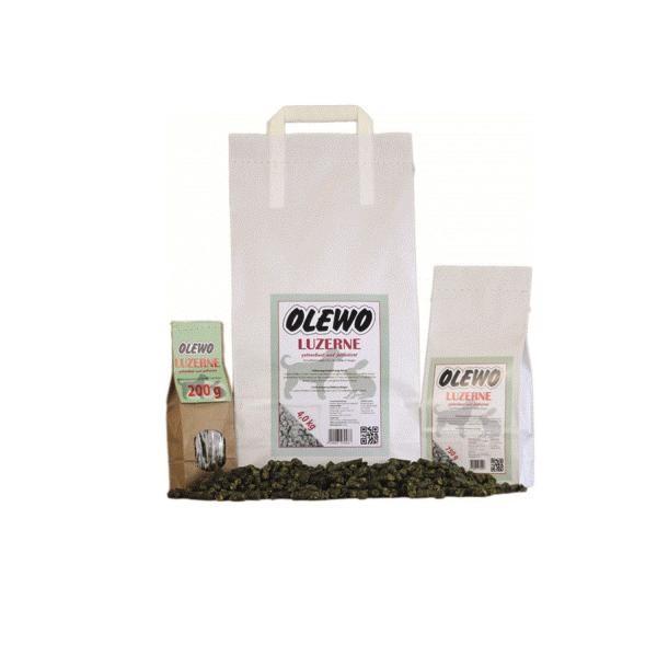 Olewo Luzerne-Pellets - Leckeres Ergänzungsfuttermittel für Hunde und Nager