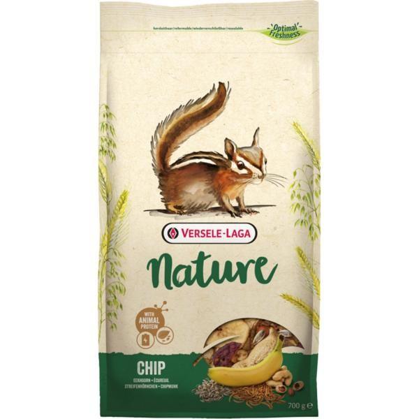 Versele Laga Nager Chip Nature 0,7kg - getreidereiche Mischung für Eichhörnchen