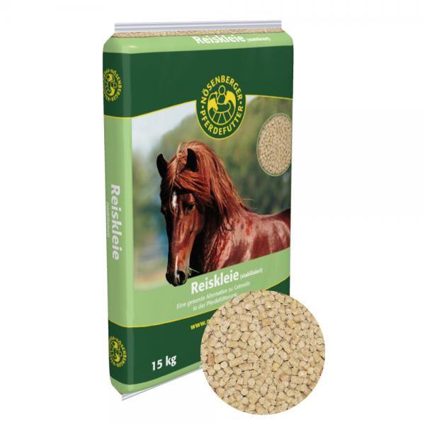 Nösenberger Reiskleie - ideale Alternative zu Getreide in der Pferdefütterung 15 kg