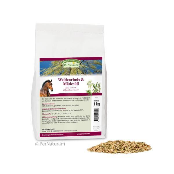 PerNaturam Pferd Weidenrinde/Mädesüß - fördert die Fließfähigkeit des Blutes 1kg