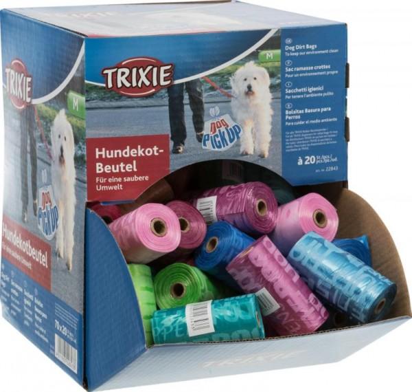 Hundekotbeutel, 20 Beutel/Rolle, verschiedene Farben
