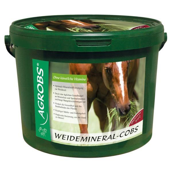 Agrobs Weidemineral-Cobs- Mineralfutter für Pferde in der Weidezeit