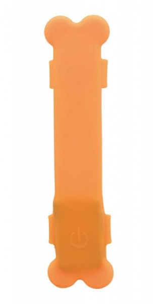 Flash Leuchtband USB, 15×2,5 cm, orange