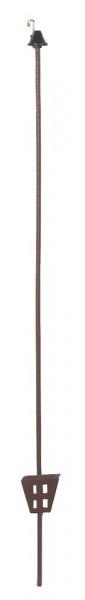 Rundstahl- und Ovalstahlpfähle, 106 cm oval, Stärke: 11 x 5 mm