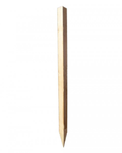 Zaunpfahl Eiche eckig, 10x10x200 cm, gespitzt
