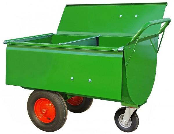 Growi® Futterwagen 200 Liter LL mit Trennwand u. Deckel