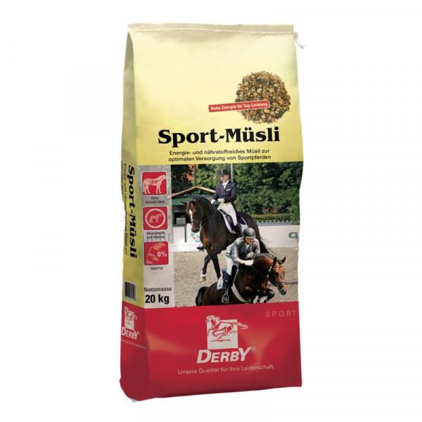 Derby Sport Müsli 20kg - Nährstoffreiches Müsli für Sportpferde