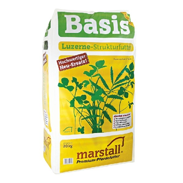 Marstall Basis- melassierter Luzerne Raufutter Ersatz 20kg
