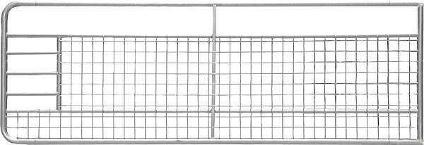 Weidetor 4,0 m, mit Gitter, verzinkt inkl. Montageteile