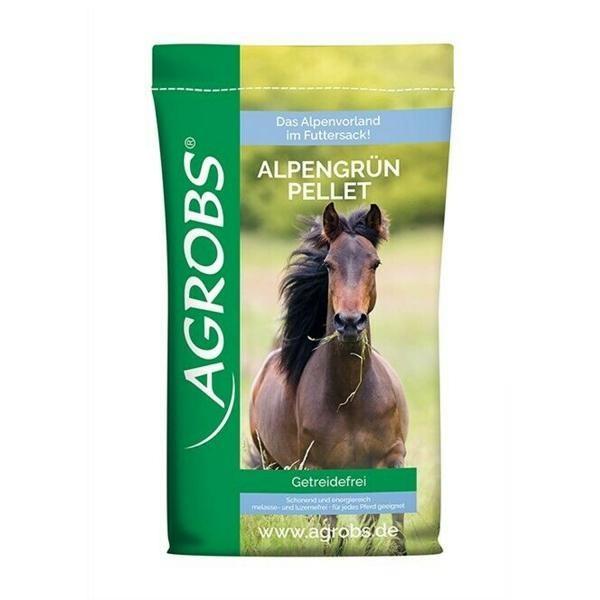 Agrobs AlpenGrün Pellet 20kg - Getreidefreies Futter für Pferde