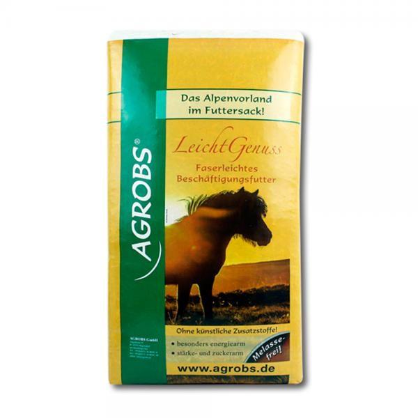 Agrobs LeichtGenuss 15kg - Faserleichtes Beschäftigungsfutter für Pferde