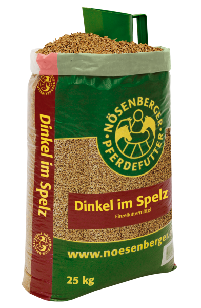 Nösenberger Dinkel im Spelz - Pferdefutter aus Getreide volles Korn 25kg