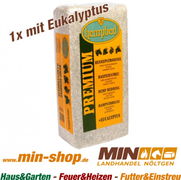 Hanfeinstreu 15kg mit Eukalyptus