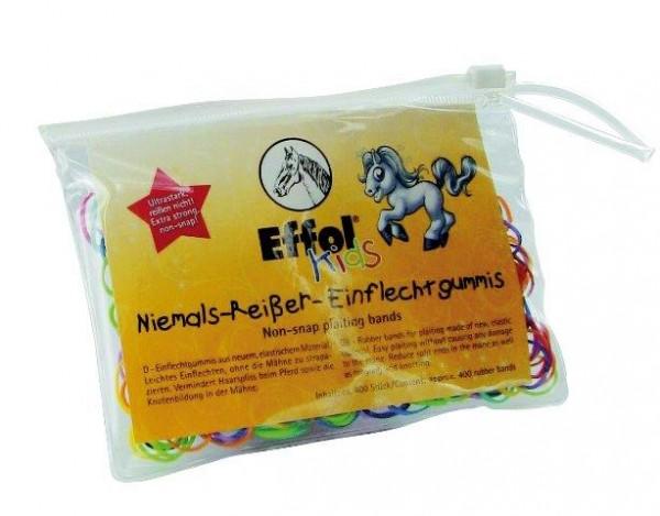 Effol Kids Niemals-Reißer-Einflechtgummis 400 Stück - Haargummi für Pferde
