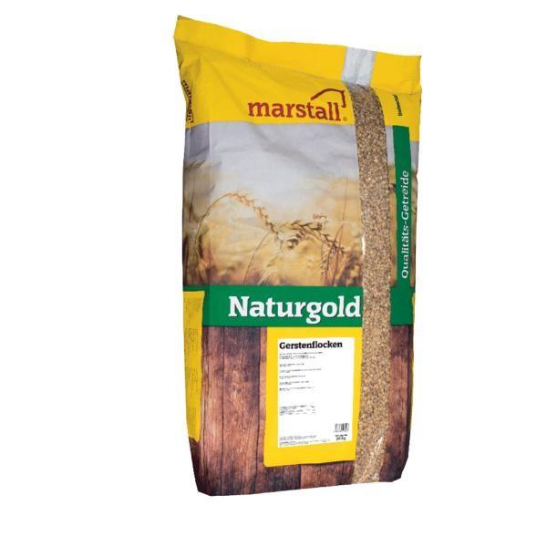 marstall Universal-Linie Naturgold Gerstenflocken 20 kg - Pferdefutter aus reinem Getreide ohne Zusä