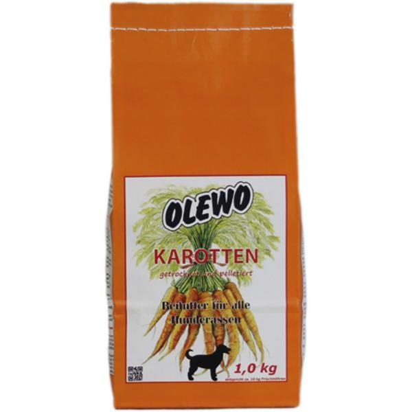 Olewo Karotten Pellets- Wertvolles Beifutter für alle Hunderassen 1kg