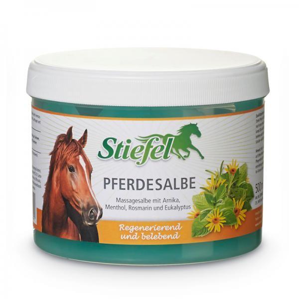 Stiefel Pferdesalbe- kühlendes Massagegel für beanspruchte Pferdebeine 500 ml