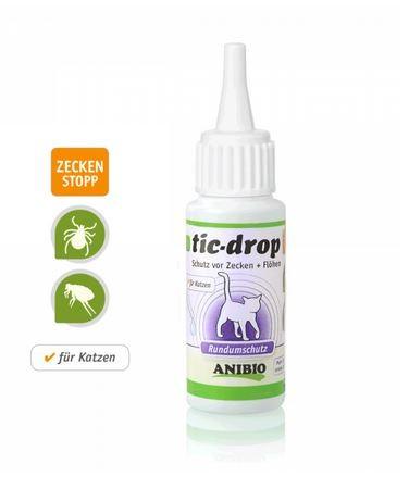 ANIBIO tic-drop, Der Rundumschutz vor Zecken und Flöhen, speziell für Katzen, 30ml