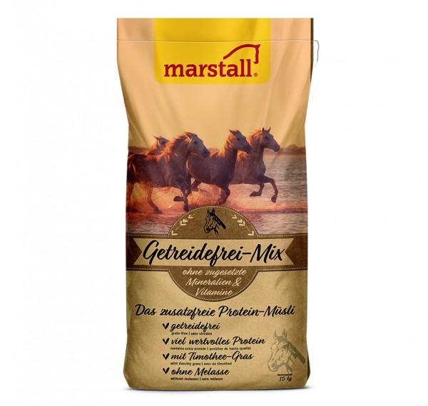 marstall Natur-Linie Getreidefrei-Mix - das zusatzfreie Protein-Müsli 15kg