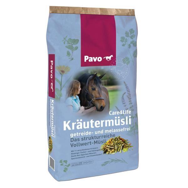 Pavo Care4Life Kräutermüsli - strukturreiche Futtermischung 15kg