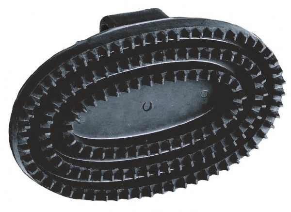 Gummistriegel oval, Hartgummi, schwarz