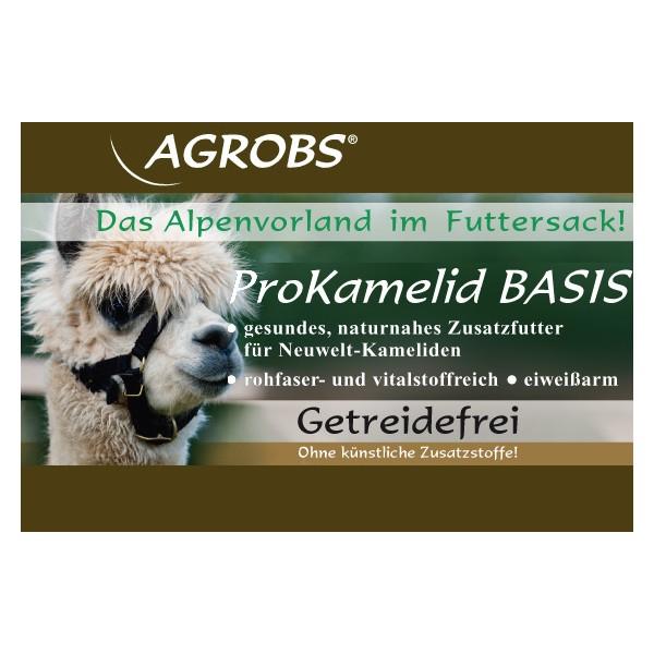 Agrobs Prokamelid Basis 15kg - vitalstoffreiches Ergänzungsfutter für Alpaka & Co