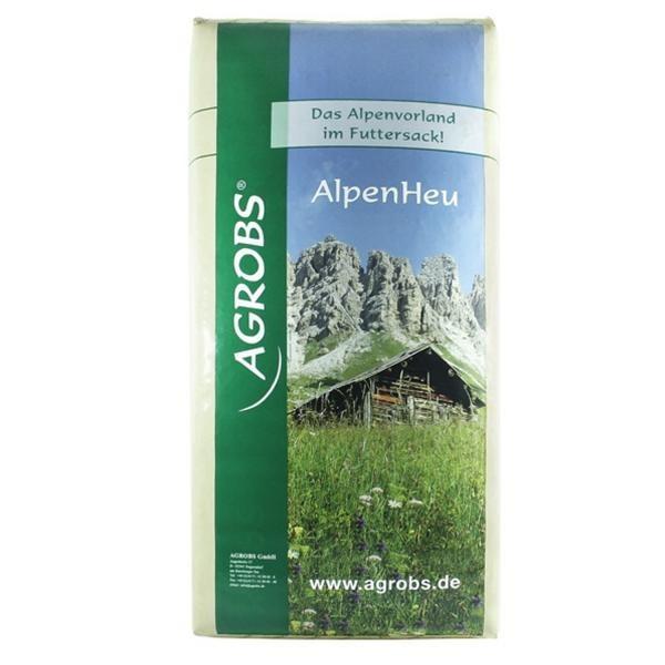 Agrobs AlpenHeu - Staubfreier Gräser und Kräuter- Mix als Raufutter für Pferde 12,5kg