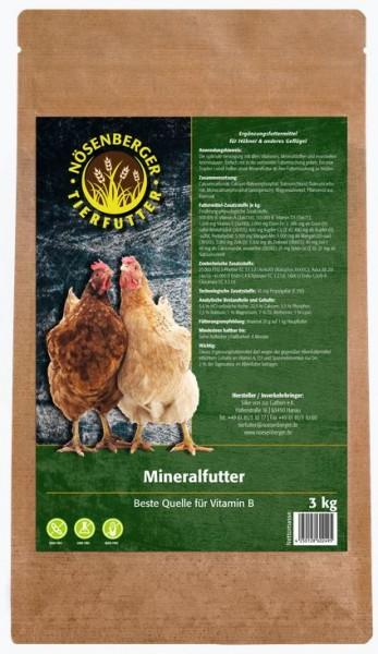 Nösenberger Mineralfutter für Geflügel 3kg Beutel