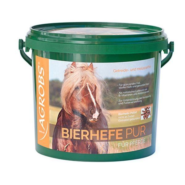 Agrobs Bierhefe pur - Ergänzungsfuttermittel für Pferde 3kg