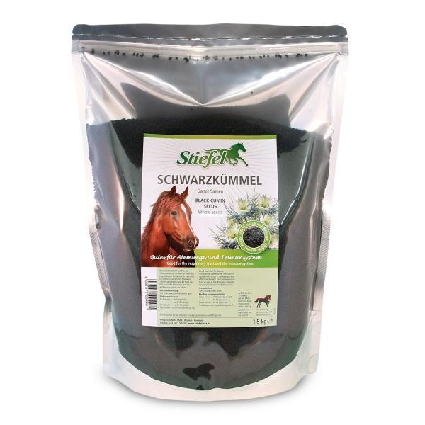 Stiefel Schwarzkümmel Samen 1,5kg - Wohltuendes Ergänzungsfutter für Pferde